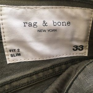 Rag & Bone Men's Denim 33